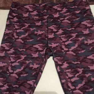 Camouflage leggings.